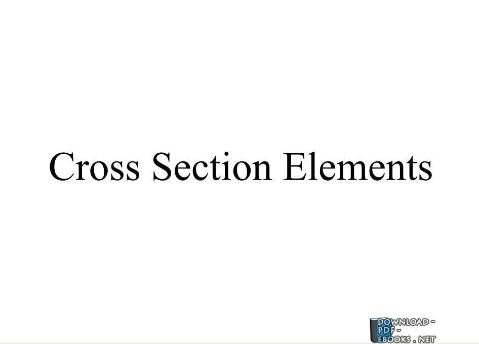 ❞ كتاب Cross Section Elements ❝  ⏤ مصطفى كامل