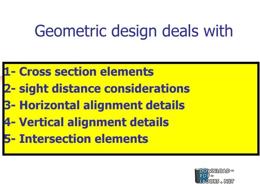 ❞ كتاب Geometric design deals with ❝  ⏤ مصطفى كامل