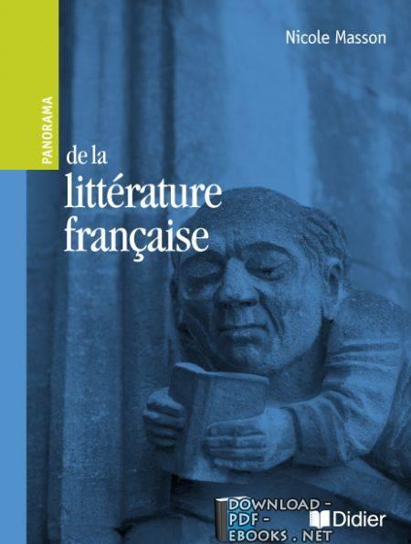 ❞ كتاب Nicole Masson de la littérature française ❝