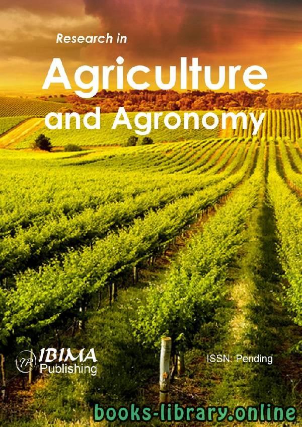 ❞ كتاب An Introduction to Agriculture and Agronomy - مقدمة في الزراعة والهندسة الزراعية ❝  ⏤ غير معروف