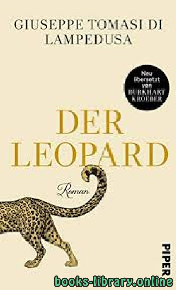 ❞ رواية The Leopard ❝  ⏤ Giuseppe Tomasi di Lampedusa