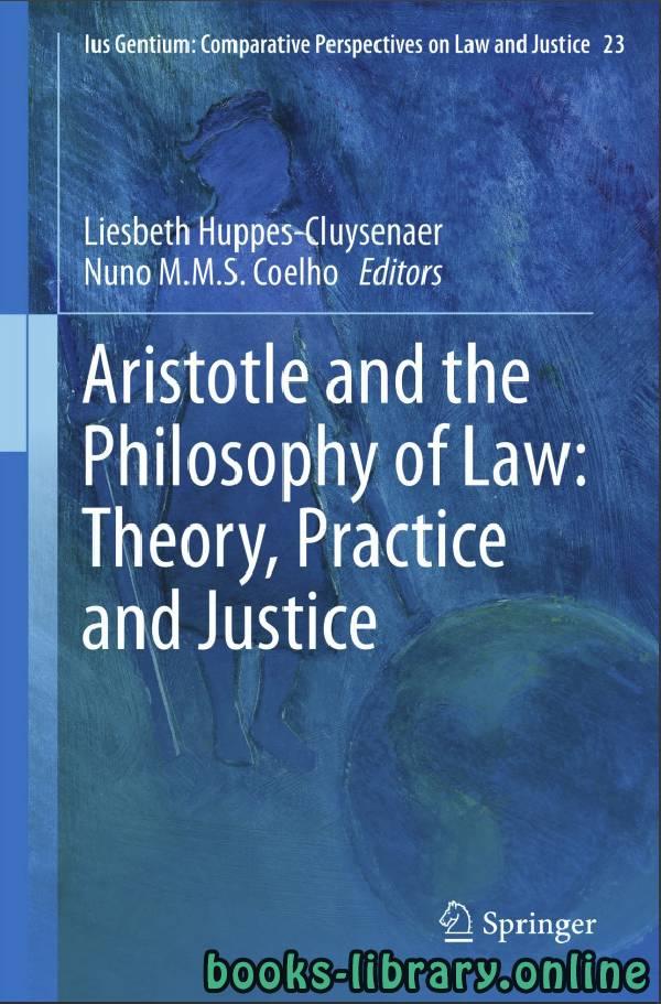 ❞ كتاب Aristotle and The Philosophy of Law ❝