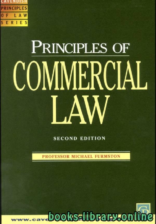 ❞ كتاب Principles of Commercial Law 2 Edition ❝  ⏤ مايكل فورمستون