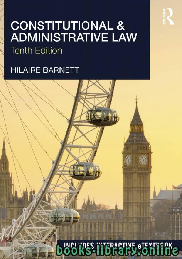 ❞ كتاب Constitutional & Administrative Law Tenth edition ❝
