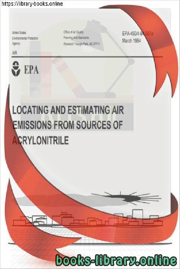 ❞ كتاب U.S. Environmental Protection Agency. Locating and estimating air emissions ❝  ⏤ U.S. Environmental Protection Agency