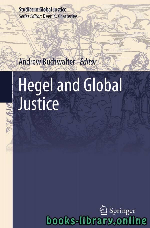 ❞ كتاب Hegel and Global Justice ❝