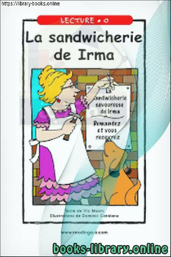 كتاب La sandwicherie de Irma