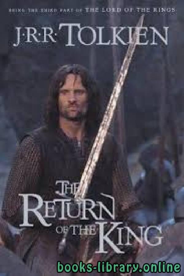❞ قصة The Return of the King ❝  ⏤ J.R.R. Tolkien