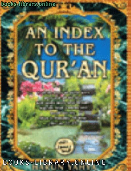 ❞ كتاب AN INDEX TO THE QUR 039 AN ❝  ⏤ Harun Yahya_هارون يحي