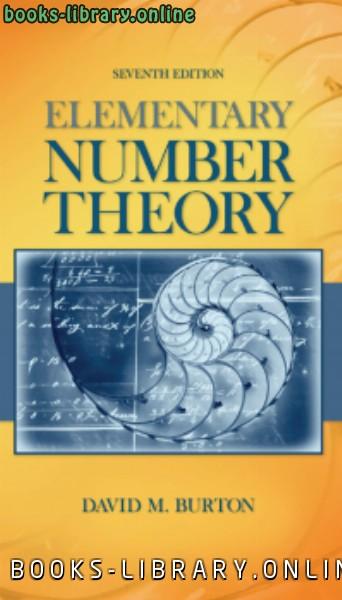 ❞ كتاب Elementary Number theory نظرية الأعداد ❝  ⏤ David M. Burton