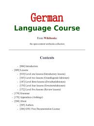 كتاب German Language Course دورة لغة المانية pdf