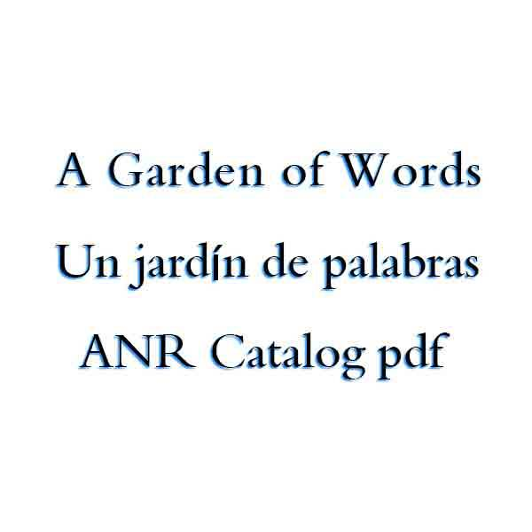 كتاب A Garden of Words / Un jardín de palabras - ANR Catalog pdf