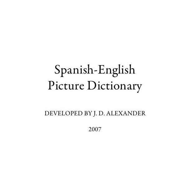 كتاب Spanish-English Picture Dictionary - Learn NC PDF