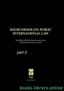 قراءة و تحميل كتاب SOURCEBOOK ON PUBLIC INTERNATIONAL LAW part 2 text 7 PDF