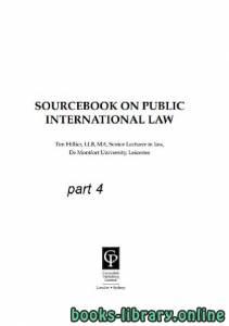 قراءة و تحميل كتاب SOURCEBOOK ON PUBLIC INTERNATIONAL LAW part 4 text 12 PDF