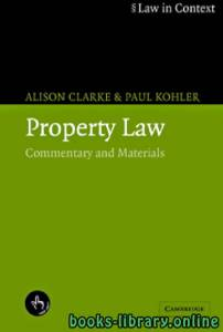 قراءة و تحميل كتاب Property Law Commentary and Materials part 17 PDF