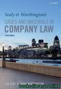 قراءة و تحميل كتاب Sealy & Worthington's Cases and Materials in Company Law 10th part 1 text 7 PDF