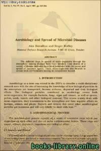 قراءة و تحميل كتاب Aerobiology and Spread of Microbial Diseases - الأيروبيولوجيا وانتشار الأمراض الميكروبية PDF