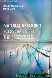 قراءة و تحميل كتاب Natural Resource Economics PDF