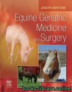 قراءة و تحميل كتاب Equine Geriatric Medicine and Surgery PDF