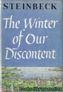قراءة و تحميل كتاب The Winter of Our Discontent PDF