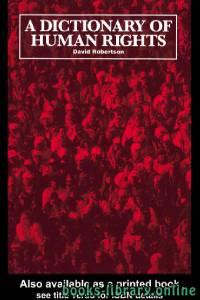 قراءة و تحميل كتاب ِA Dictionary Of Human Rights PDF