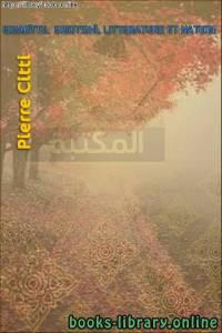 قراءة و تحميل كتاب LITTERATURE ET NATION L'HISTOIRE  LITTÉRAIRE PDF