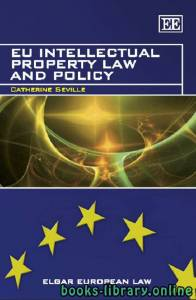 قراءة و تحميل كتاب EU Intellectual Property Law and Policy PDF