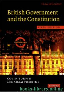 قراءة و تحميل كتاب British Government and the Constitution Sixth edition PDF