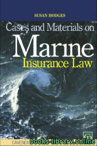 قراءة و تحميل كتاب CASES AND MATERIALS ON MARINE INSURANCE LAW PDF