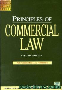 قراءة و تحميل كتاب Principles of Commercial Law 2 Edition PDF