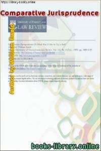 قراءة و تحميل كتاب Comparative Jurisprudence - What Was It like to Try a Rat PDF