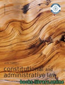 قراءة و تحميل كتاب Constitutional and Administrative Law PDF