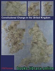 قراءة و تحميل كتاب Constitutional Change in the United Kingdom PDF