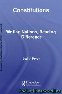 قراءة و تحميل كتاب Constitutions Writing Nations, Reading Difference PDF