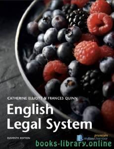 قراءة و تحميل كتاب English Legal System ELEVENTH EDITION PDF