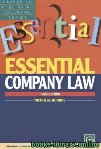 قراءة و تحميل كتاب ESSENTIAL COMPANY LAW THIRD EDITION PDF