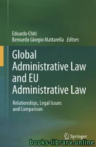 قراءة و تحميل كتاب Global Administrative Law and EU Administrative Law PDF
