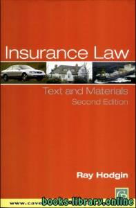 قراءة و تحميل كتاب INSURANCE LAW PDF