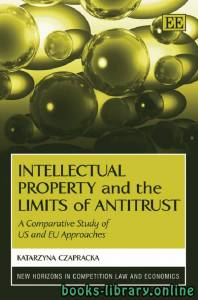 قراءة و تحميل كتاب Intellectual Property and the Limits of Antitrust PDF