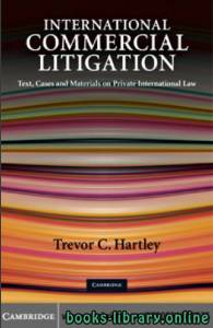 قراءة و تحميل كتاب International Commercial Litigation Text, Cases and Materials on Private International Law PDF