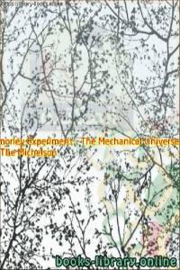 قراءة و تحميل كتاب The Michelson Morley Experiment - The Mechanical Universe PDF