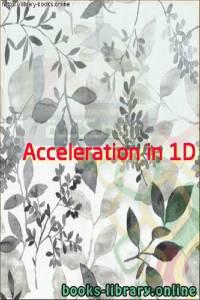 قراءة و تحميل كتاب Acceleration in 1D PDF
