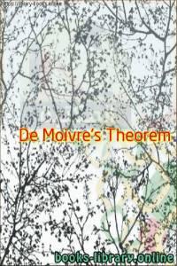 قراءة و تحميل كتاب De Moivre's Theorem PDF