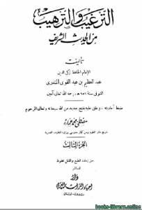 قراءة و تحميل كتاب الترغيب والترهيب من الحديث الشريف ج3 PDF
