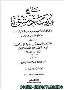 قراءة و تحميل كتاب تاريخ مدينة دمشق (تاريخ دمشق) المجلد الثالث والثلاثون PDF