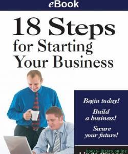 قراءة و تحميل كتاب 18 Steps for Starting Your Business PDF