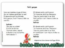 قراءة و تحميل كتاب « Petit garçon » d'après une chanson de Roger Miller PDF