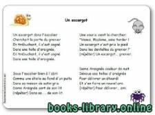 قراءة و تحميل كتاب Comptine « Un escargot » (dans l'escalier…) PDF