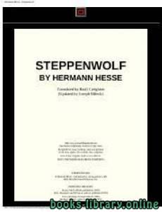 قراءة و تحميل كتاب Steppenwolf PDF